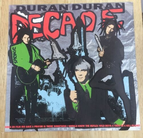 Duran Duran Decade Promotional Poster 1989 Original 12.5x12.5 Rare