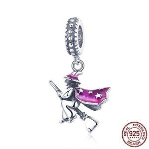 2018-Xmas-Authentic-925-Sterling-Magic-Witch-Pendant-Charm-fit-Original-Bracelet