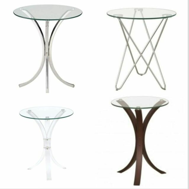 Seahaven Round Gl Top Accent Table