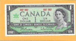 1967-CANADIAN-1-DOLLAR-BILL-VERY-NICE-CRISP-UNC