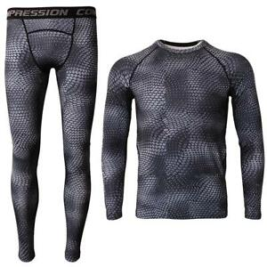 Mens Skin Slim Sport Base Trousers Pants Tops Shirts Compression Apparel Jogging