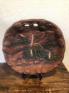 Wood like Yosemite National Park California Souvenir Collectible Bowl Plate