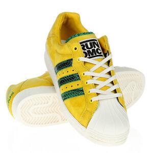 Adidas Ultrastar 80s Run Dmc Schuhe Sneaker Gelb Herren Damen Neu