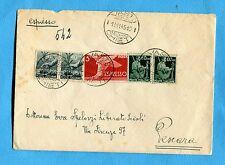 1945 EXP.DEM.£.5 + DEM.c.40 x 2 e c.60 x 2 ann.VASTO, 11.11.45   (253128)