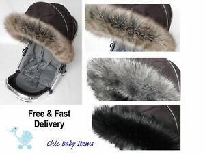 MIMA-VENICCI-Pushchair-Pram-carrycot-Hood-trim-fur-hood-universal-fit