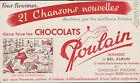 BUVARD ANCIEN PUBLICITAIRE CHOCOLAT POULAIN/CHANSON : BON VOYAGE MR DUMOLLET