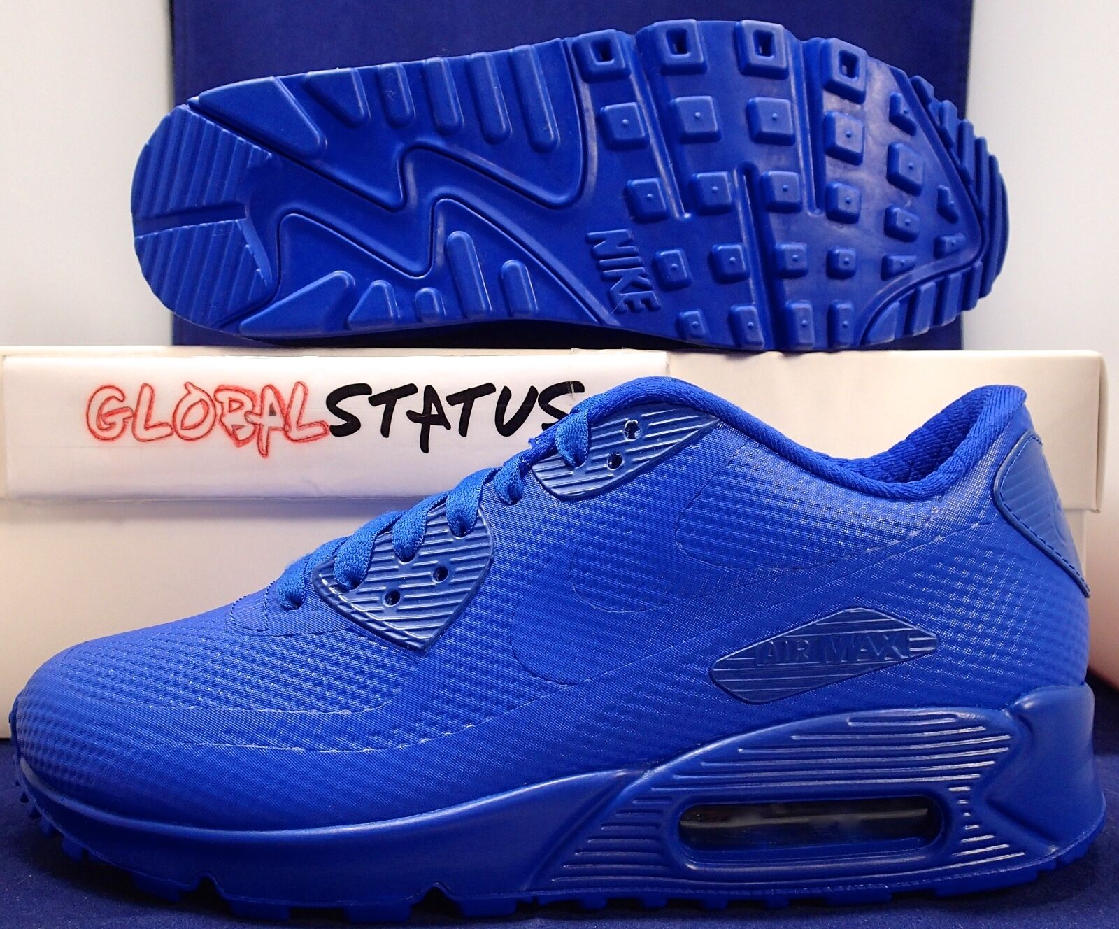 NIKE ID AIR MAX 90 HYPERFUSE PREMIUM BLUE SHOES Price reduction
