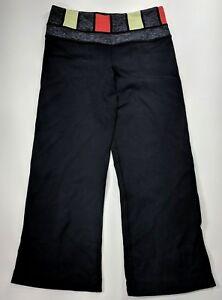 Lululemon-Athletica-Black-Grey-Groove-Crop-Reversible-Capri-Yoga-Legging-Size-2