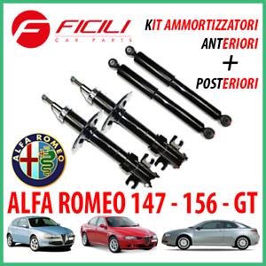 KIT-AMMORTIZZATORI-Alfa-Romeo-147-156-GT-Anteriori-Posteriori-Alfa-147