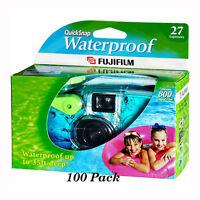 100 Pcs Fuji Quicksnap Underwater Waterproof Single Use Disposable Cameras