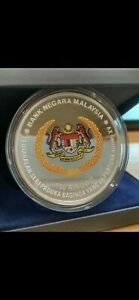 Installation Of 15th Agong,  Commemerative Coin  Silver 3ounces Certificate Box