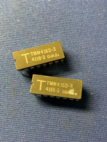 TMM416D-3 TOSHIBA 4116D 4116J DRAM 16-PIN CERDIP VINTAGE 1980 LAST ONES