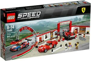 LEGO-Speed-Champions-75889-Garage-Ferrari-NUOVO