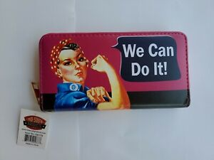 """Rosie the Riveter """"We Can Do It"""" Zippered Wallet with Wrist Strap (NIP)"""