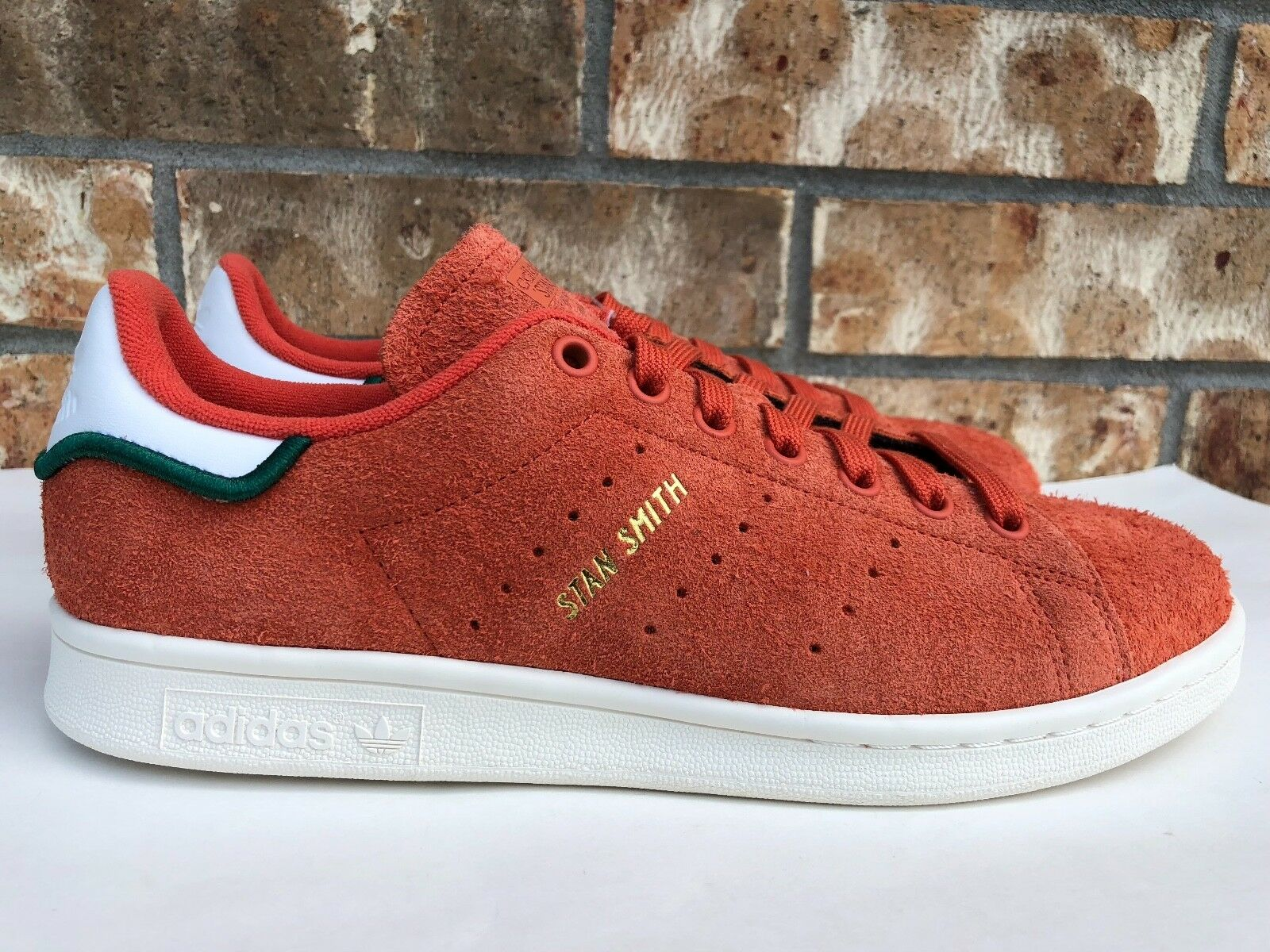 Men's Adidas Originals Stan Smith Hairy Suede Trace Orange blanc