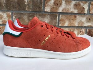 Men s Adidas Originals Stan Smith Hairy Suede Trace Orange White ... 6acd4d2db169b