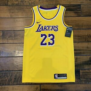 Details about LeBron James Los Angeles Lakers Nike Icon Gold Swingman Jersey Men's Small