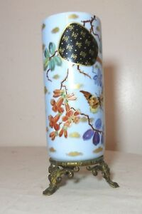 antique-handmade-painted-porcelain-figural-gilt-bronze-Chinese-cylindrical-vase