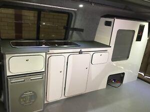 Vw Transporter Campervan T4 T5 T6 Lwb White Gloss Kitchen