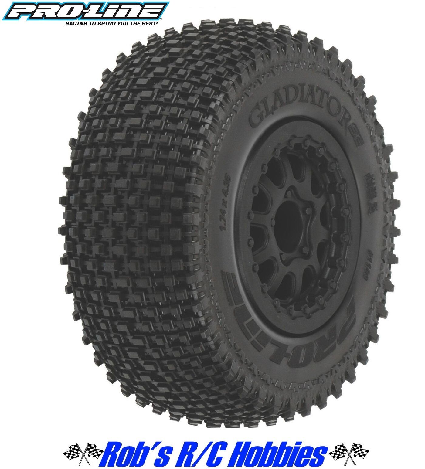 PROLINE Gladiator SC 2.2 3.0 M2 M2 M2 Mnt Renegade Whl Blk SLH (PRO116913) bbc271