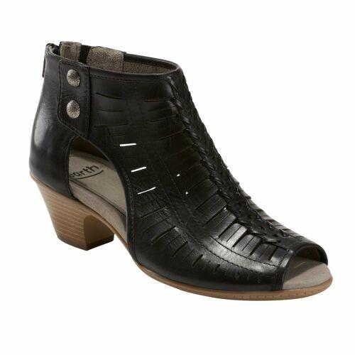 7 Medium Women/'s Close Back Open Toe Sandal Black Earth Vicki