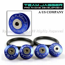 FOR ACUR HOND A! JDM FLUSH WASHERS FRONT QUICK RELEASE BUMPER FASTENER BLUE USA
