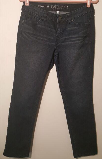 Jennefer Lopez Jeans Women Size 4S Straight Leg Blue Stretchy