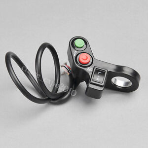 Motorcycle-ATV-Bike-Scooter-Offroad-7-8-034-Switch-Horn-Turn-Signals-On-Off-Light