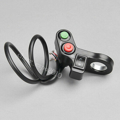 "Motorcycle ATV Bike Scooter Offroad 7/8"" Switch Horn Turn Signals On/Off Light"