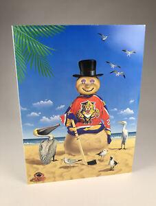 Vintage 1993 Florida Panthers Team Issued Inaugural Season Christmas Card