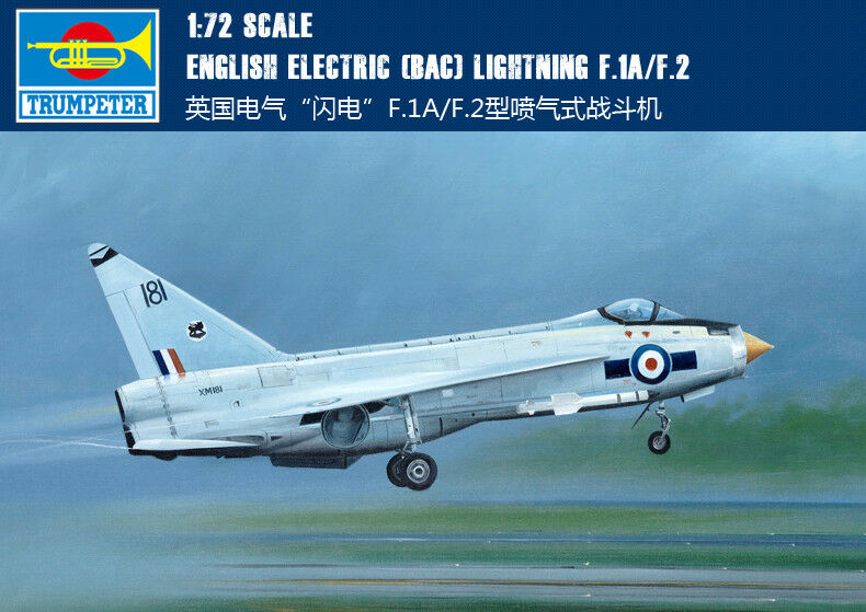 01634 Trumpeter 1 72 Model British BAC Lightning F.1A F.2 Jet Fighter Plane Jet