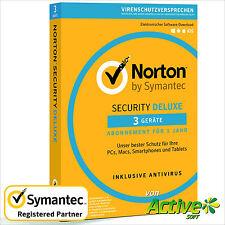 NORTON Security 2017 3 Geräte | PC ,Mac,Android,iOS| Internet Security DE-Lizenz