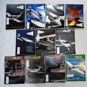 AOPA PILOT AVIATION AIRCRAFT PLANES MAGAZINE ENGLISH LOT OF 11 1978-1979 VINTAGE