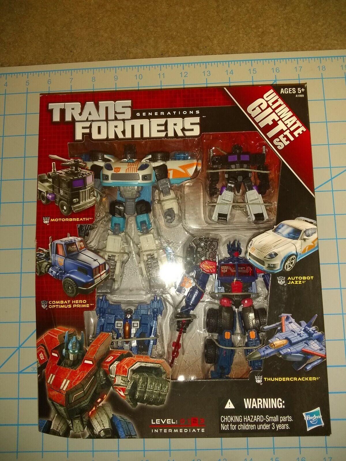 Transformers ultimate gift set hasbro rare unopened box set optimus jazz nemesis