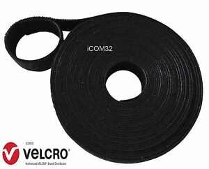 VELCRO-Brand-ONE-WRAP-back-to-back-Strapping-cable-ties-2-5CM-Wide-in-BLACK
