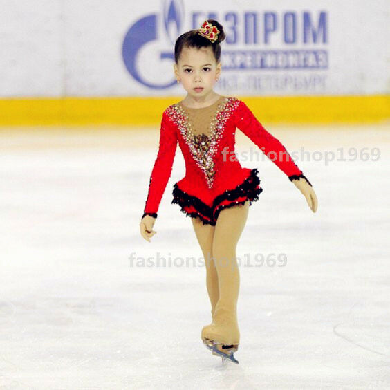 Ice Figure Skating Dress RG Rhythmic Gymnastics Tap Leotard Competition xx781