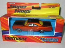 Vintage Matchbox 1970 Plymouth Road Runner Hemi Muscle Car