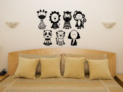 Kids Children/'s Bedroom Decal Wall Art Sticker Picture Animal Pack Nursery