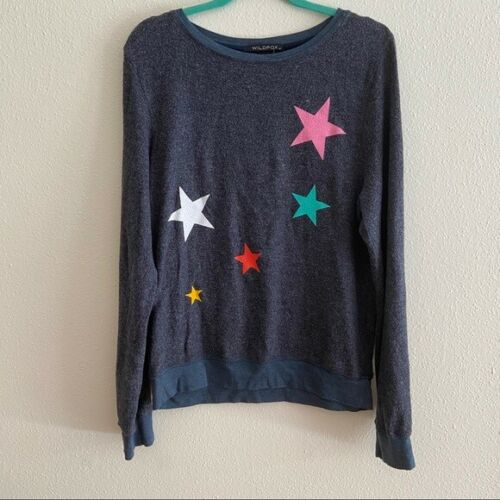 Wildfox Star Scatter Pull Sweat-shirt oxford Gay Neuf avec étiquettes taille M