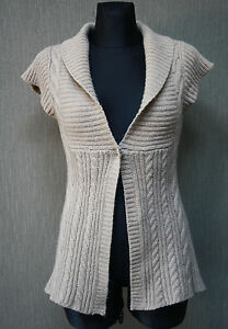 CHILLNORWAY-Damen-Jacke-Gr-M-Strickjacke-Wolle-beige-warm-Pullover-15