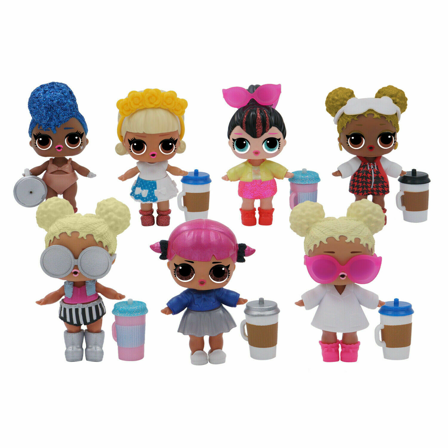 6pcs LOL Surprise Doll LiL Sister Baby Doll Gift Toy Send At Random