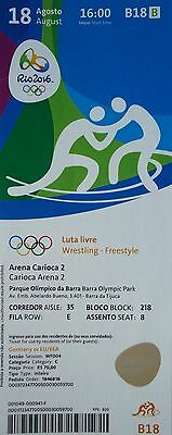 Olympic Memorabilia Ticket 18/8/2016 Rio Olympic Games Wrestling Rio 2016 Freestyle # B18 Pleasant In After-Taste