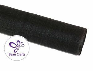 Details about Sinamay Fabric for Millinery Hat Making Stiffened Black  Sinamay Fabric