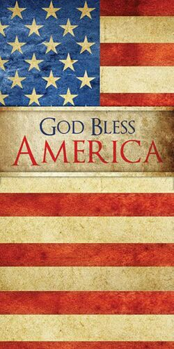 Light /& Dark Fabrics #2 God Bless America Flag Iron On Transfer For T-Shirt