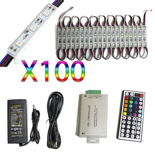 50 Ft RGB 5050 DEL Module lumière bande 12 V 100 pc Boutique Fenêtre Signe Lampe Kit environ 15.24 m