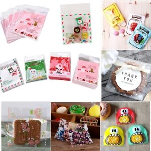 Christmas Gift Bags Diy.Details About 100pcs Self Adhesive Cookie Candy Gift Bags Diy Cellophane Party Christmas Decor