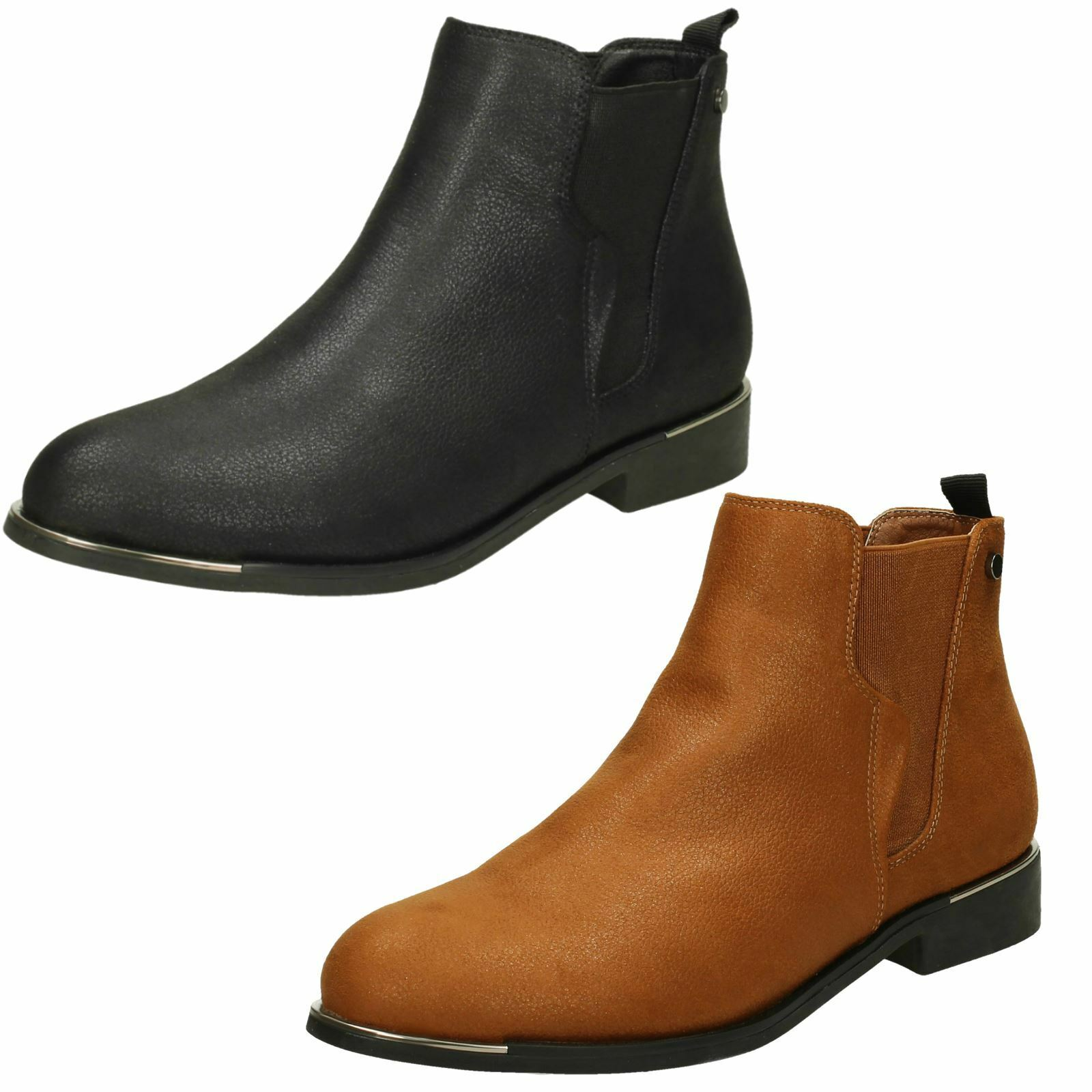 Ladies Down To Earth Low Heel Ankle Boots
