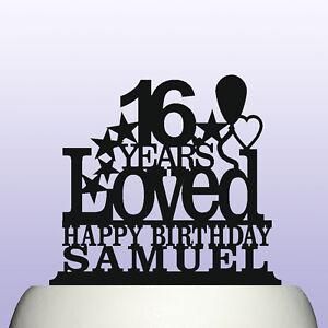 Image Is Loading Personalised Acrylic Boy Girl Sweet 16th Birthday Years