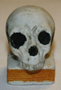Antique or Vintage Japanese Ceramic Skull on Book