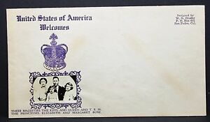 US-Cover-Welcomes-Majesties-King-Queen-Princess-Crosby-Cachet-Letter-I-5686